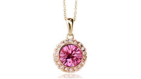 N248gpk Pink crystal pendant