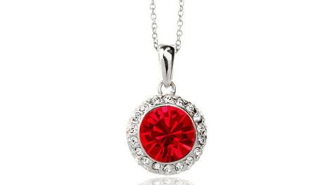 N248r Red crystal pendant