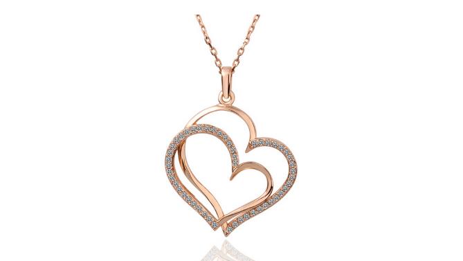 N403 Rose gold heart