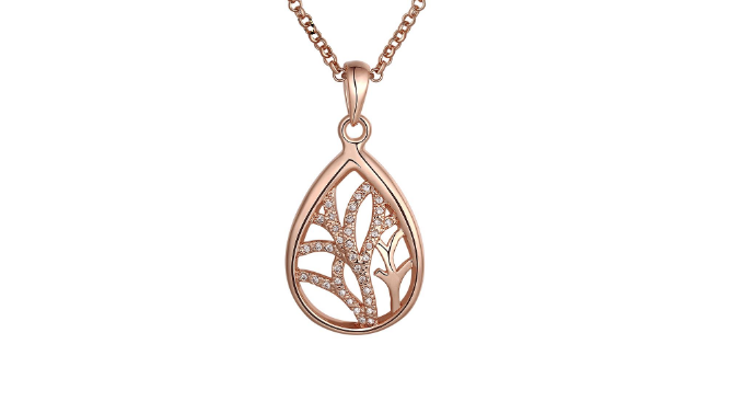N428 Rose gold pendant.