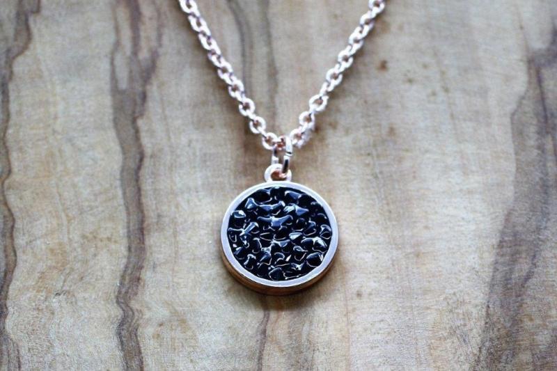 N310 Black crystal pendant