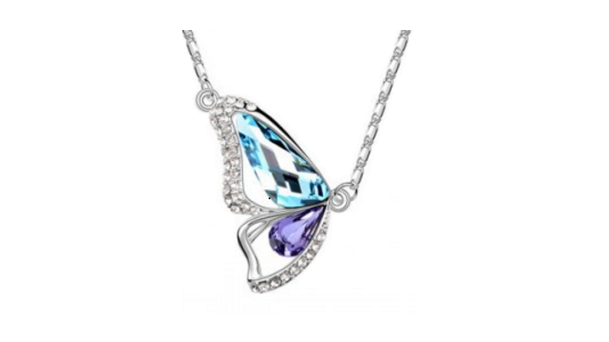 N262bp Butterfly design necklace