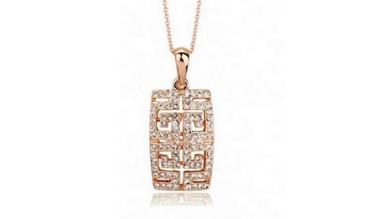N293 Rose gold pendant