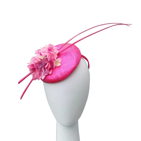 Orla Cerise Fascinator
