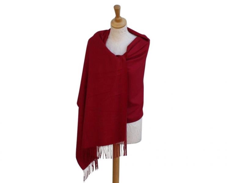 Pashmina Scarf berry Wool/cashmere