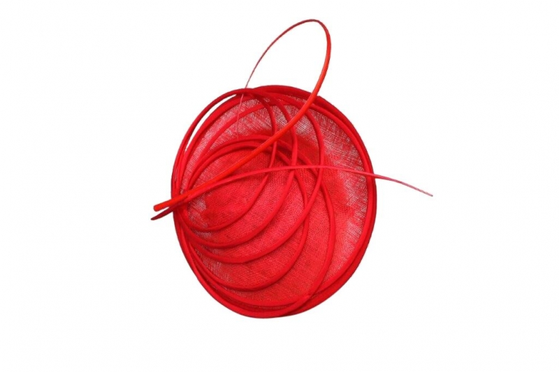 Pia Red Fascinator
