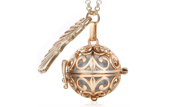 Bola  necklace Rose gold/silver