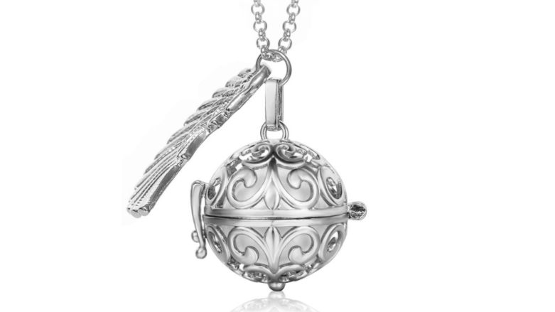 Bola  necklace silver/white