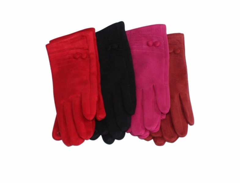 SG-4 Faux Suede Gloves Asstd 12pk