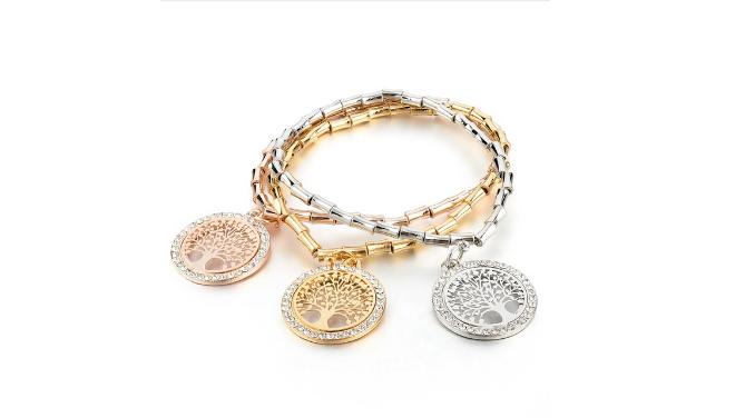 B143 Tri metal bracelet