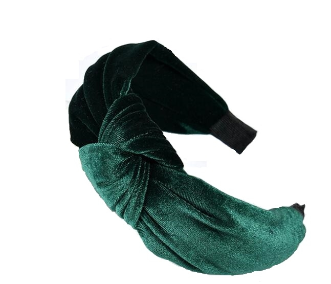 Velvet Hair Band Green